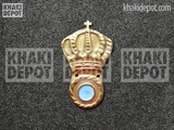 Greek Infantry Cap Brass Badge 1935-1940